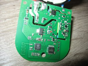 the back of the extracted socket board
